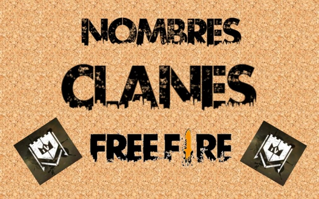 nombres para clanes de free fire